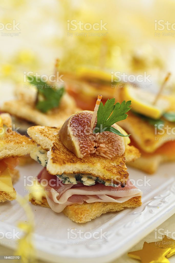 Holiday Appetizers royalty-free stock photo