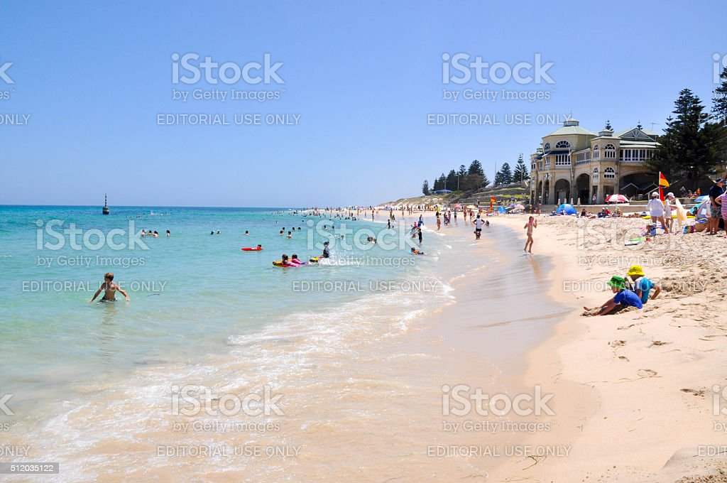 Holiday at Cottesloe Beach stock photo
