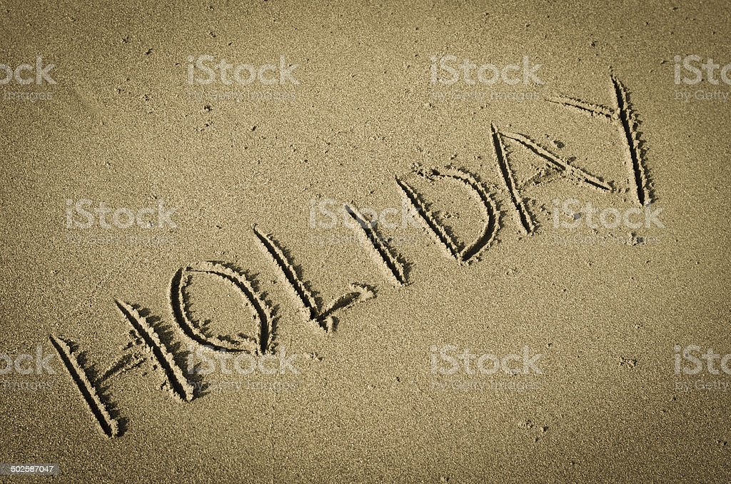 holiday at sand stock photo