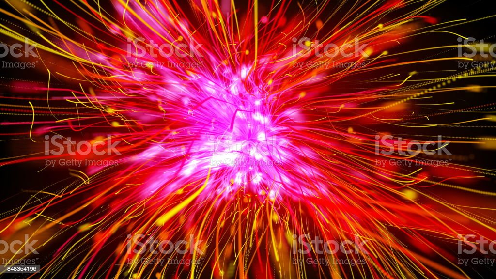 Holiday background with Glittering Star Particles stock photo