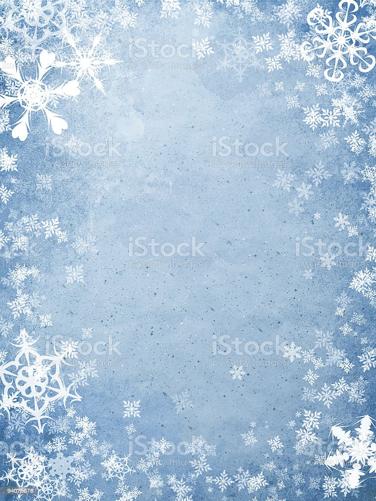 holiday background with snowflakes royalty-free stock photo