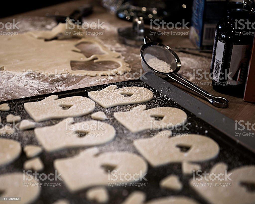 Holiday Baking (revised) stock photo