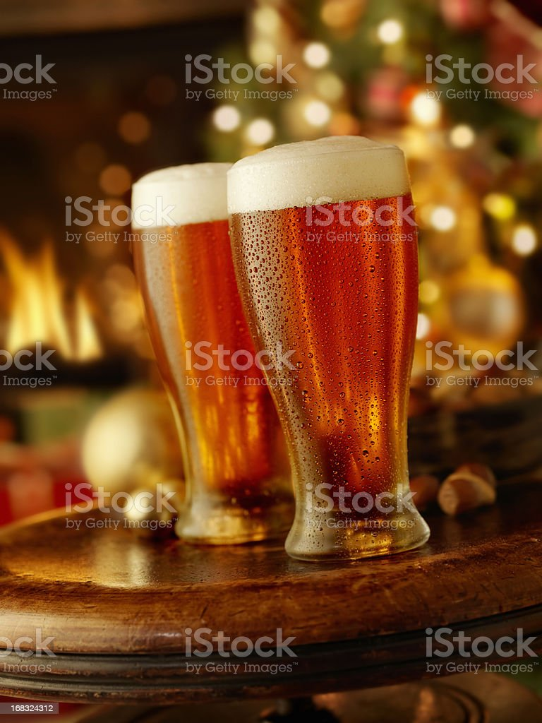 Holiday Beers stock photo
