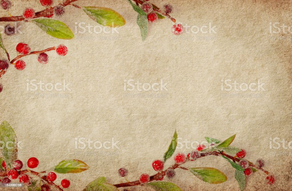 Holiday Border on Grunge stock photo
