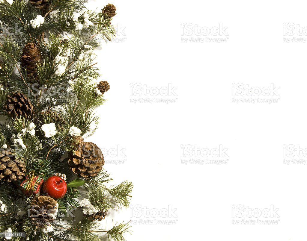 Holiday Border With Copy Space royalty-free stock photo