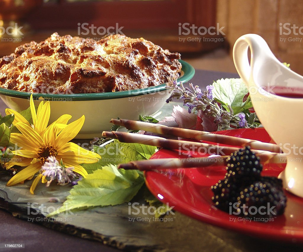 holiday bread pudding royalty-free stock photo