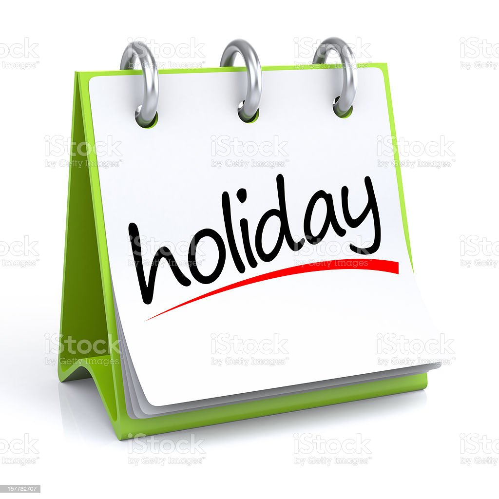 Holiday Calendar stock photo