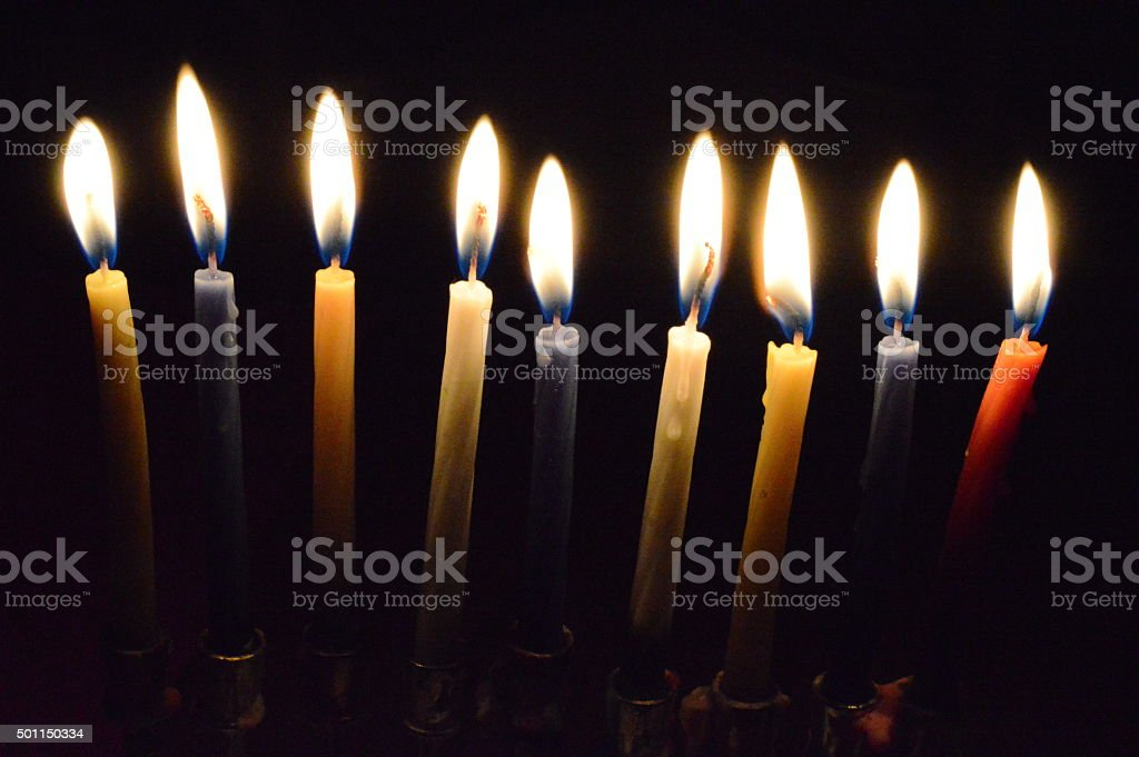 Holiday Candles royalty-free stock photo