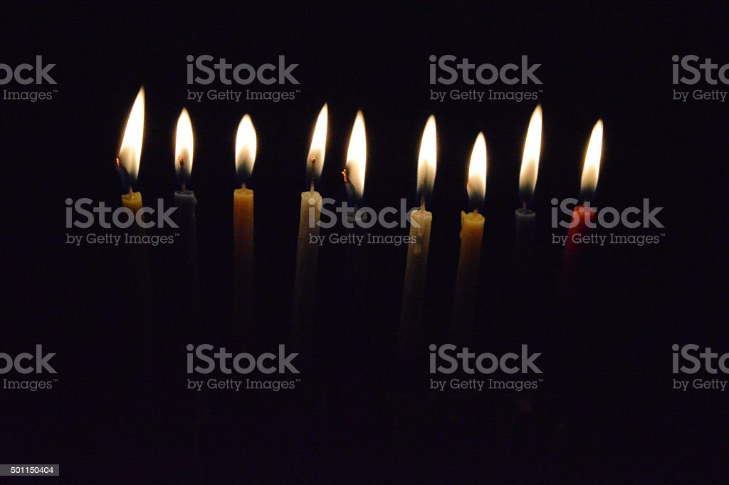 Holiday Candles royalty-free stock photo
