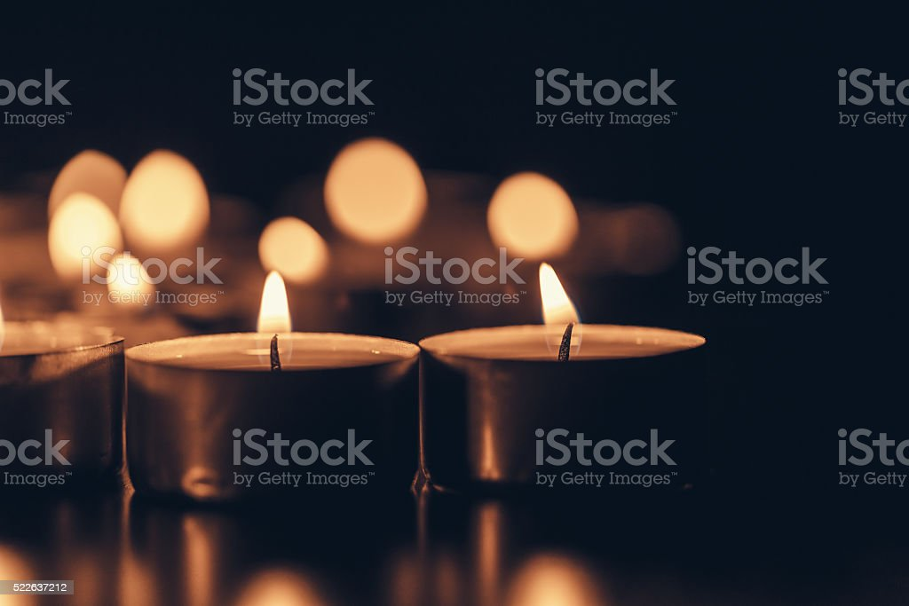 Holiday candles stock photo