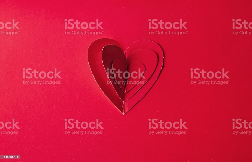 Holiday Card. Heart for Valentines day. Red hearts on a  back stock photo