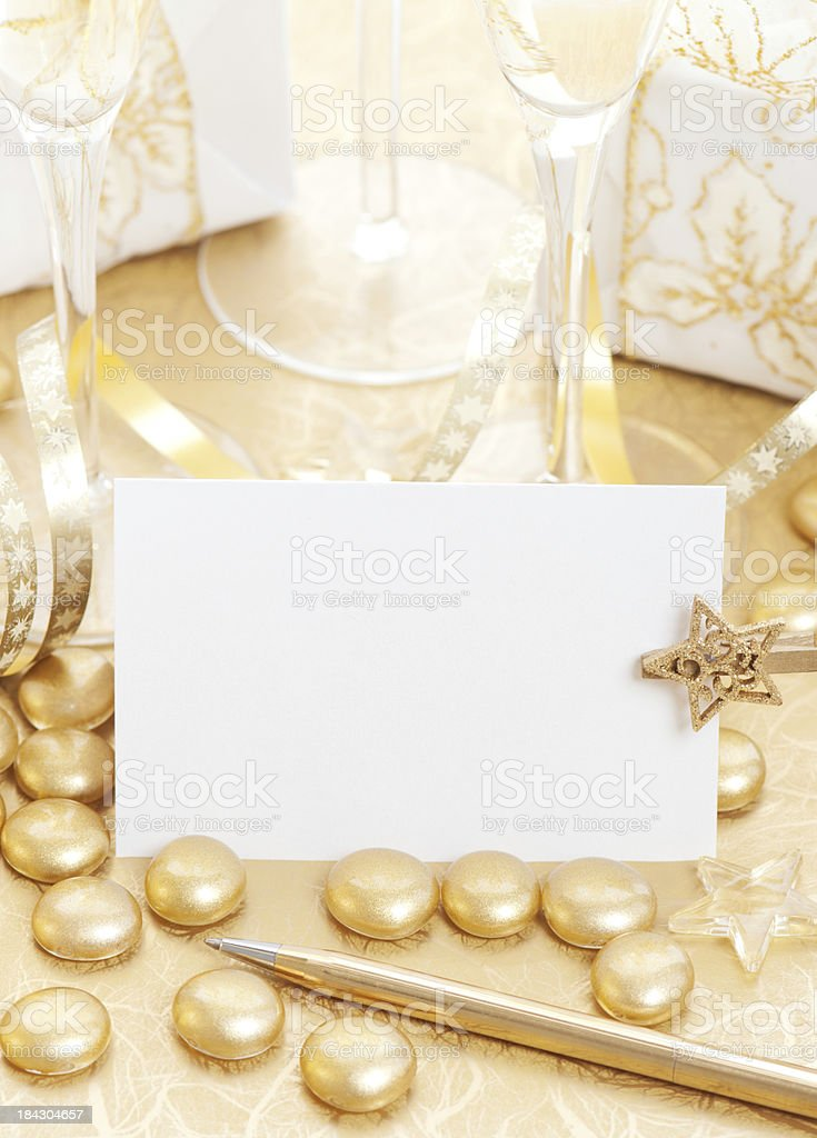 Holiday card. royalty-free stock photo