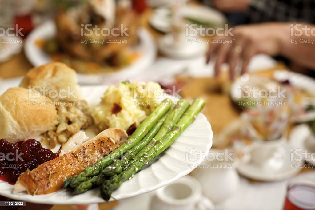 holiday celebration meal royalty-free stock photo