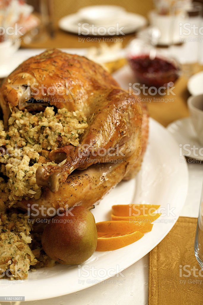 holiday celebration meal roasted turkey royalty-free stock photo