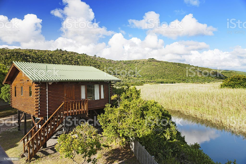 Holiday chalet in national park on South Africa's Garden Route royalty-free stock photo