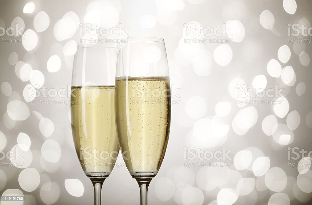 holiday champagne stock photo