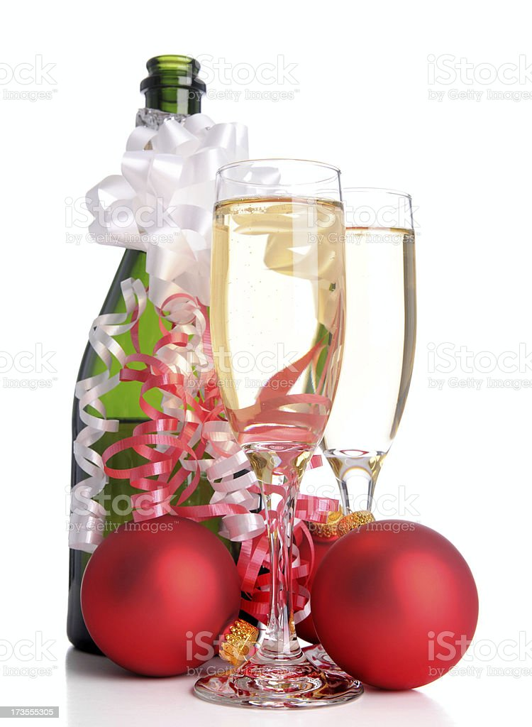 Holiday Champagne! (XL) royalty-free stock photo