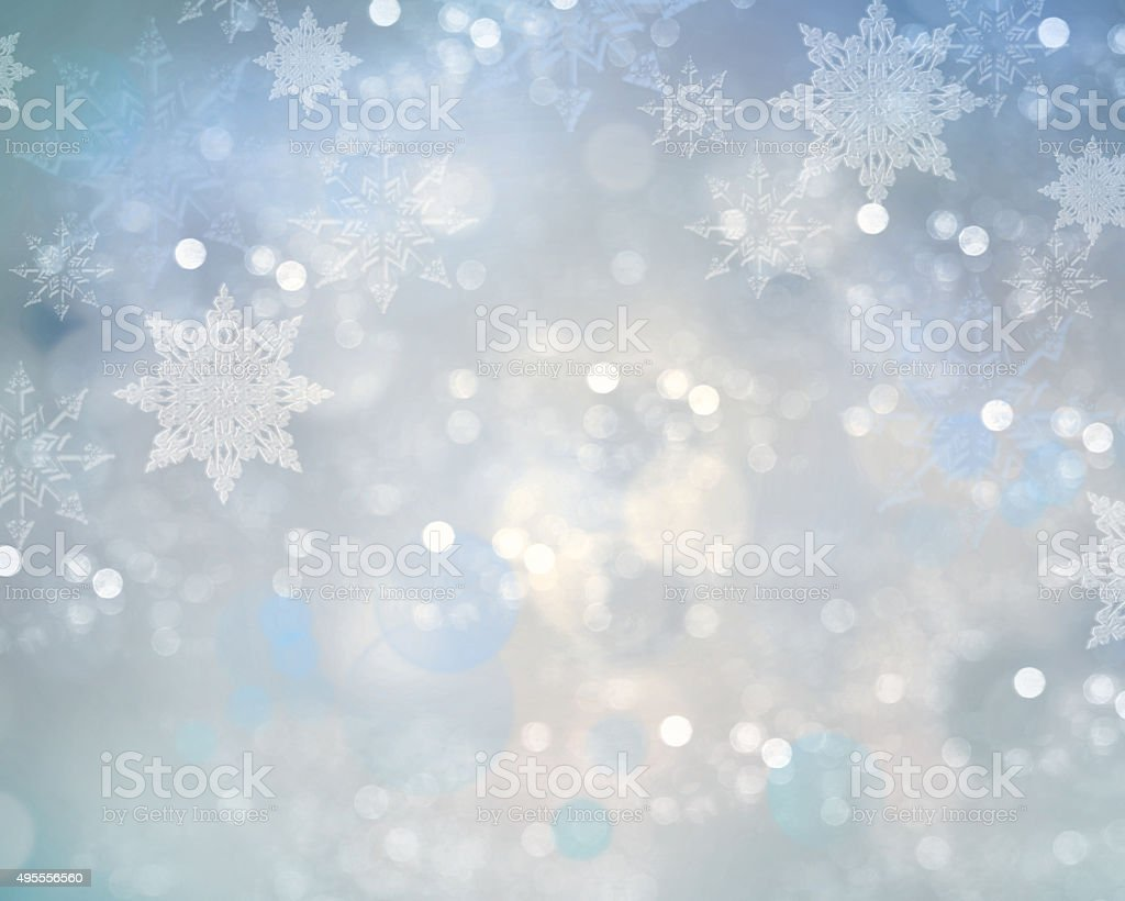 Holiday christmas snowflake background. stock photo