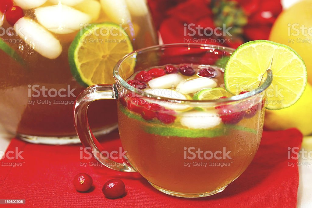 Holiday Citrus Punch stock photo