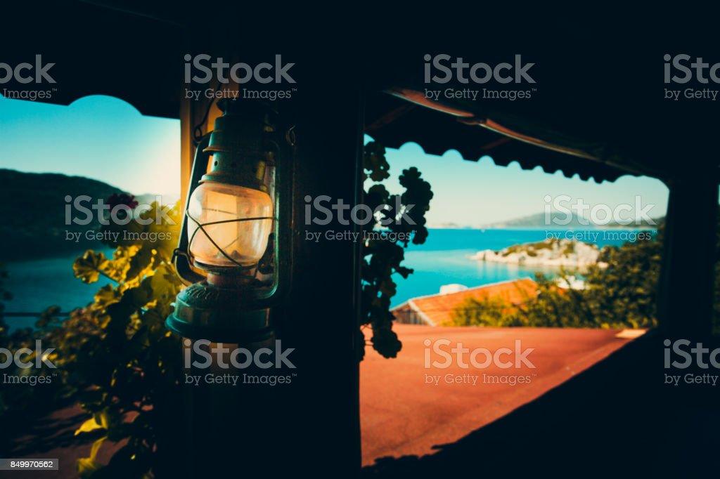 Holiday city Kekova stock photo