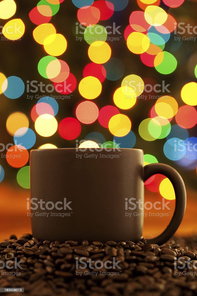 Holiday Coffee stock photo