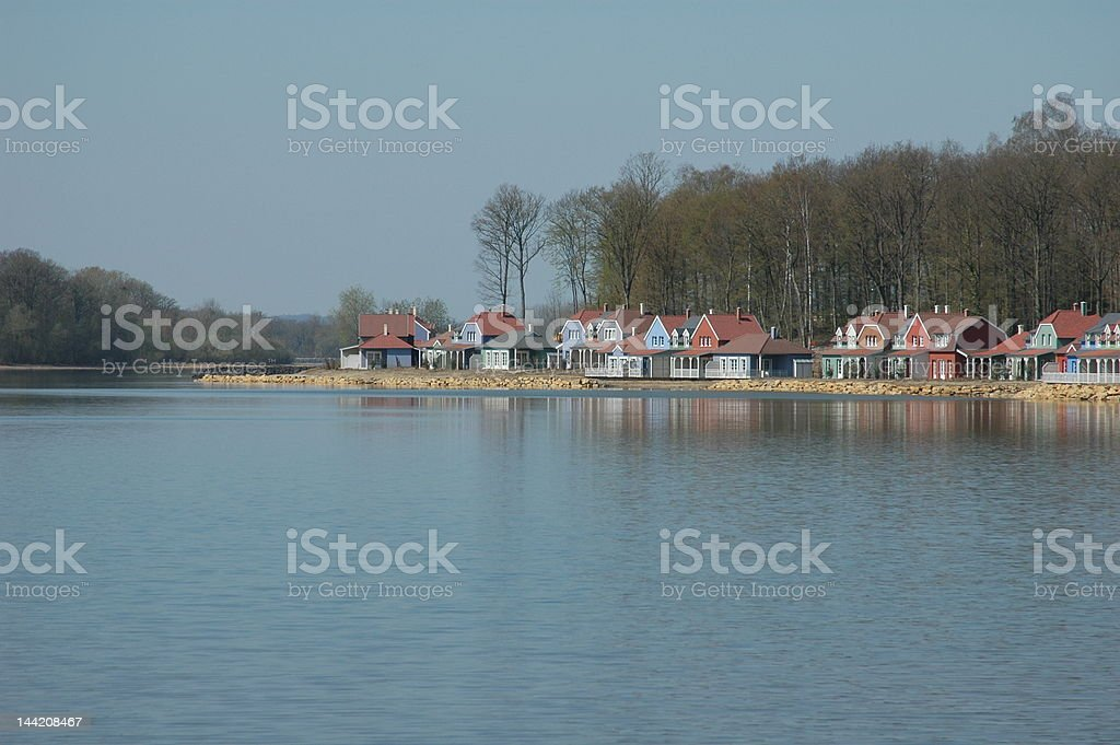 Holiday cottages stock photo