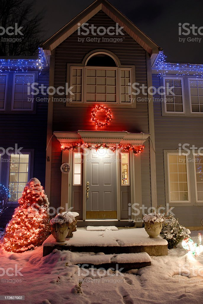 Holiday decorated home. royalty-free stock photo