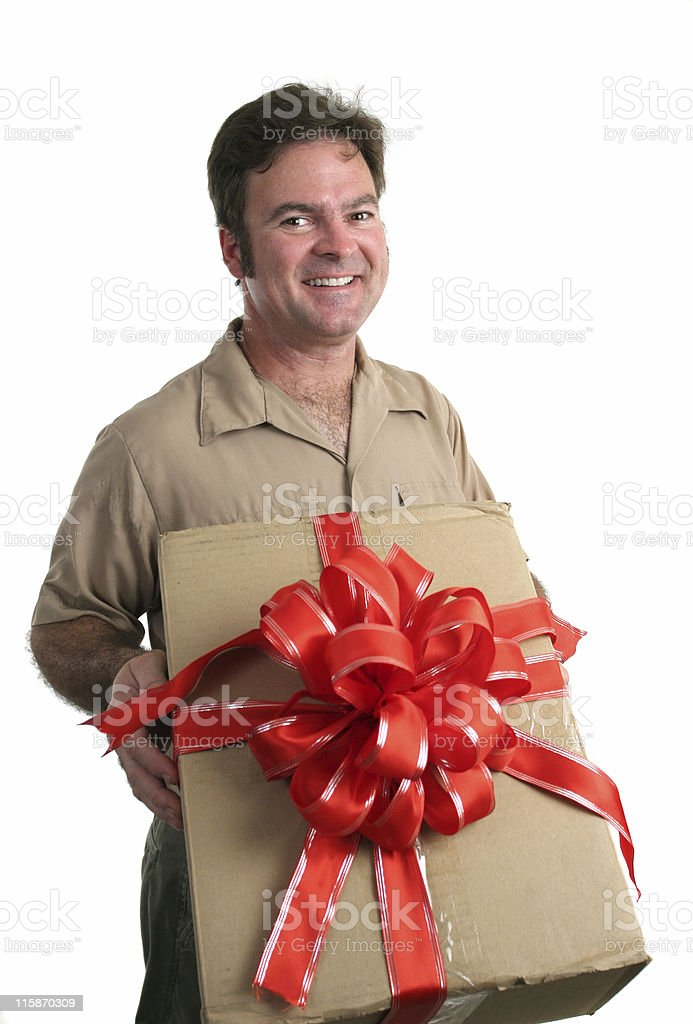 Holiday Delivery royalty-free stock photo