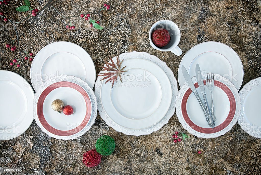 Holiday Dining Background stock photo