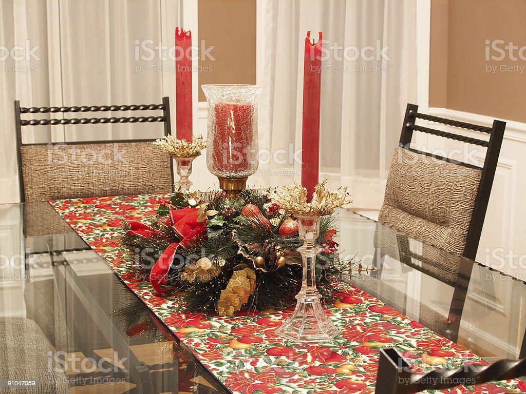 Holiday dining room royalty-free stock photo