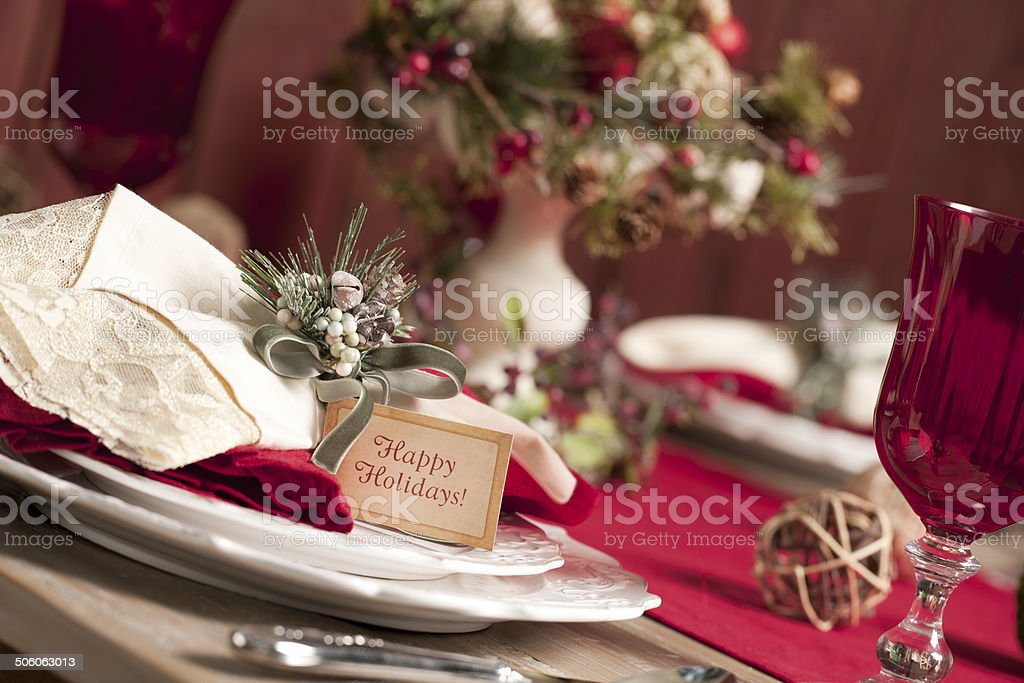 Holiday Dining Table royalty-free stock photo