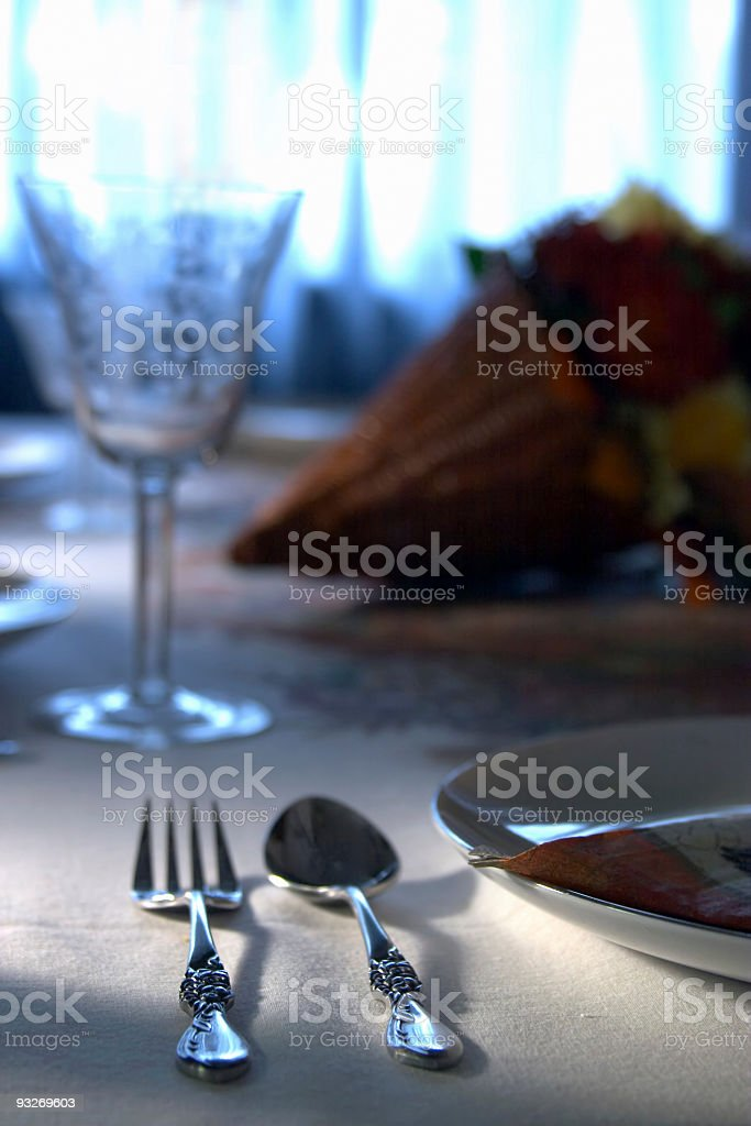 Holiday Dinner Table royalty-free stock photo