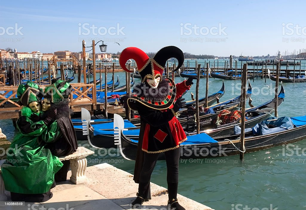 Holiday events in Venice by waterfront royalty-free stock photo