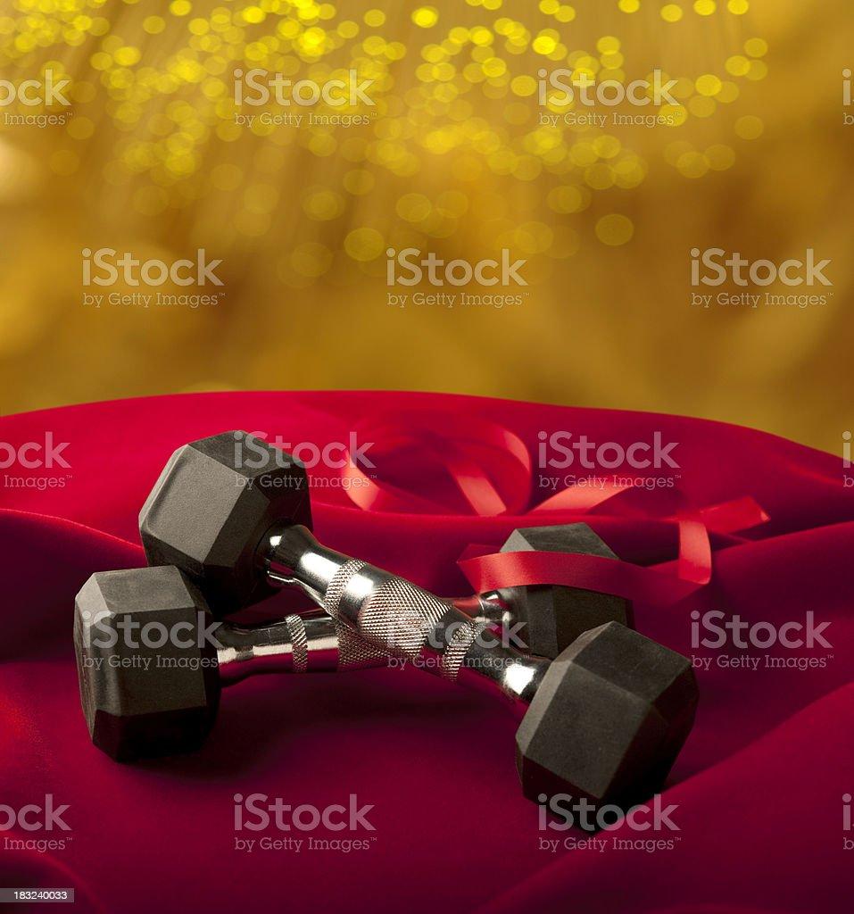 Holiday Fitness royalty-free stock photo