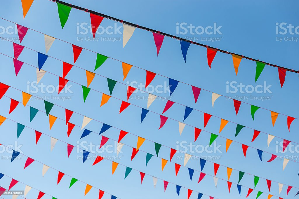 holiday flags stock photo