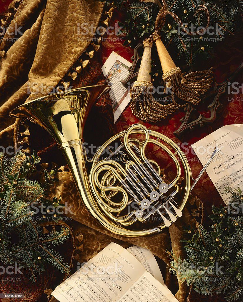 Holiday French Horn stock photo