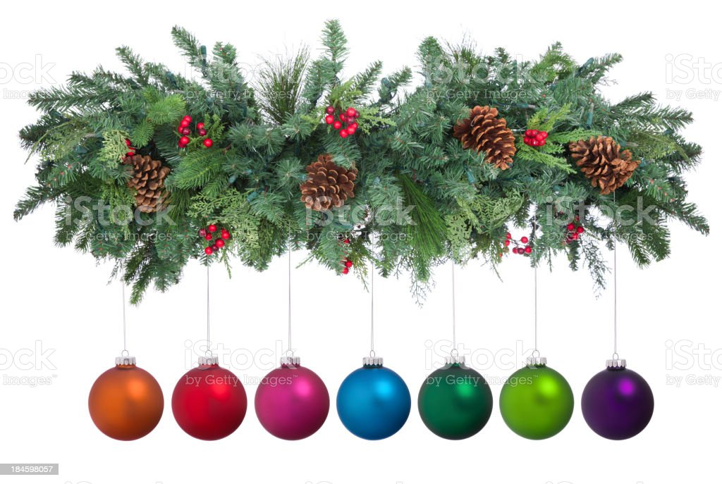 Holiday Garland royalty-free stock photo