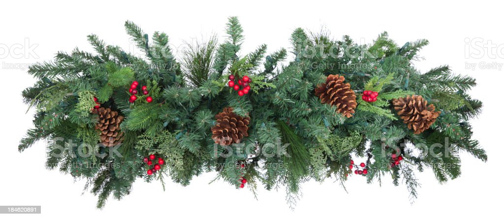 Holiday Garland stock photo