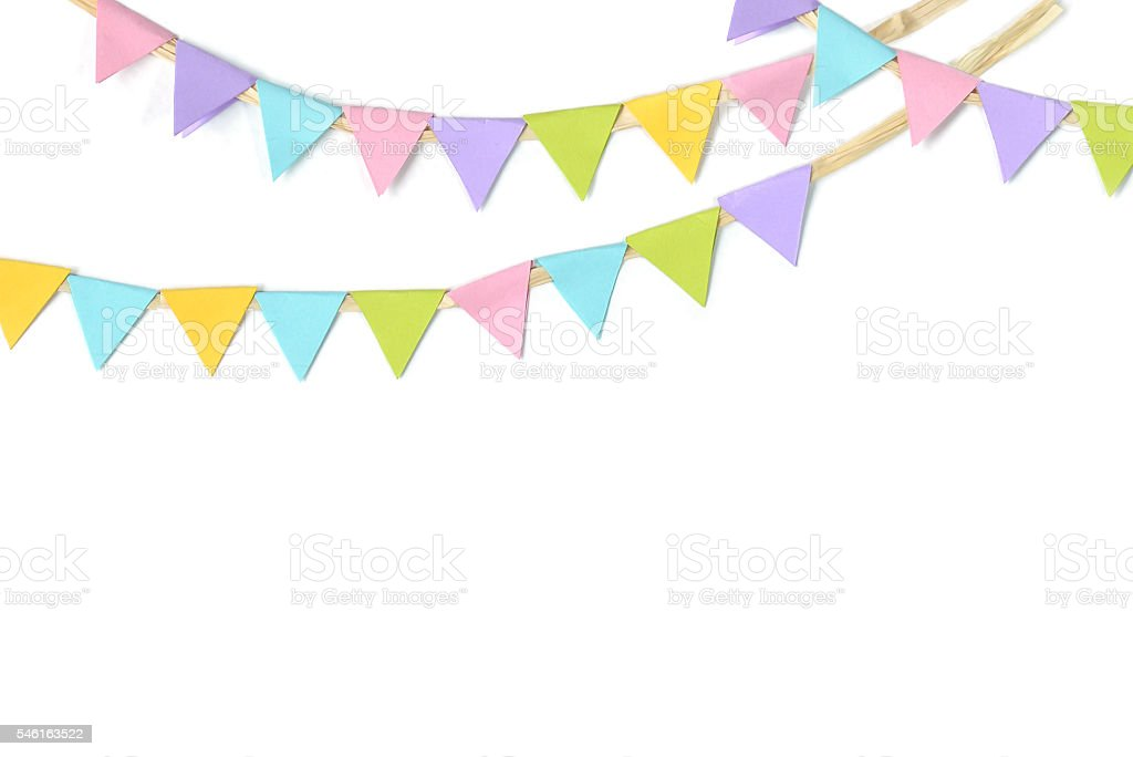Holiday garlands paper cut - isolated stock photo