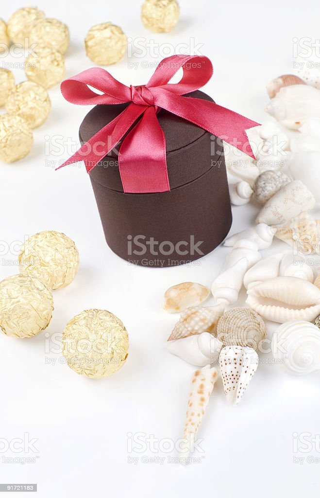Holiday gift royalty-free stock photo
