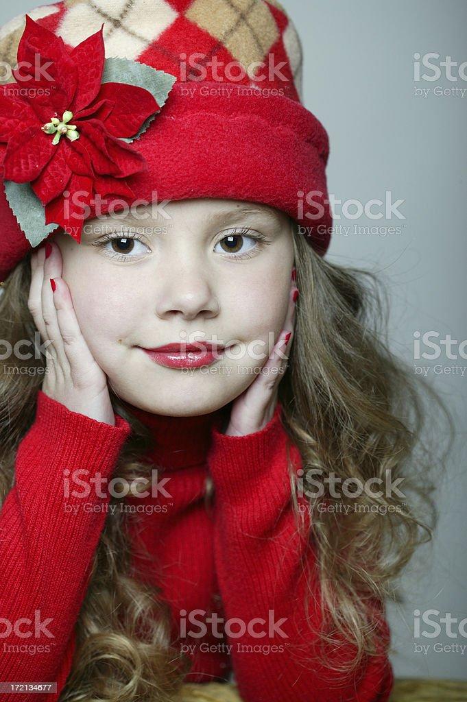 Holiday Girl 0002 royalty-free stock photo
