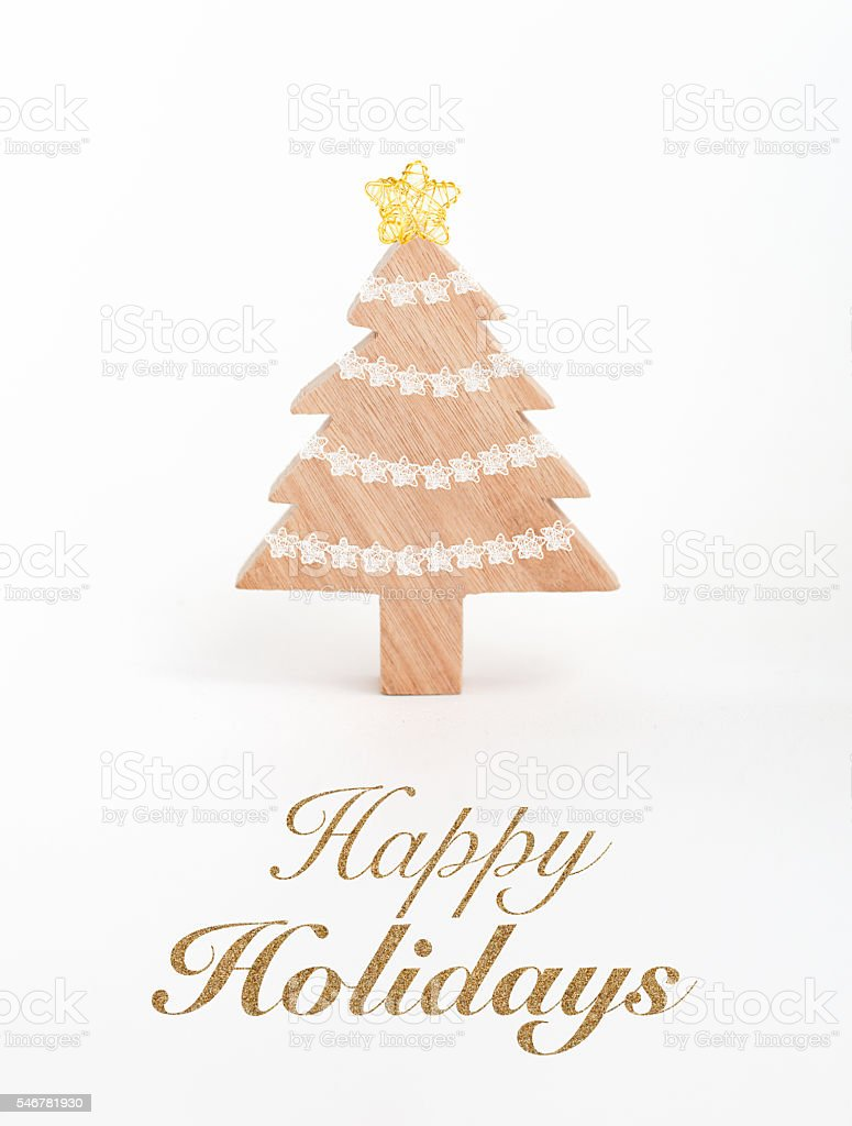 Holiday Greeting Card with text stock photo
