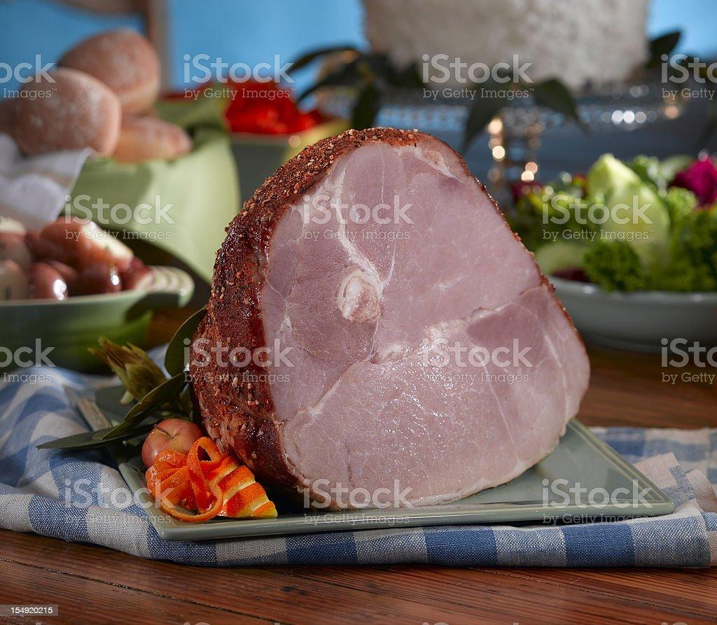 Holiday Ham stock photo
