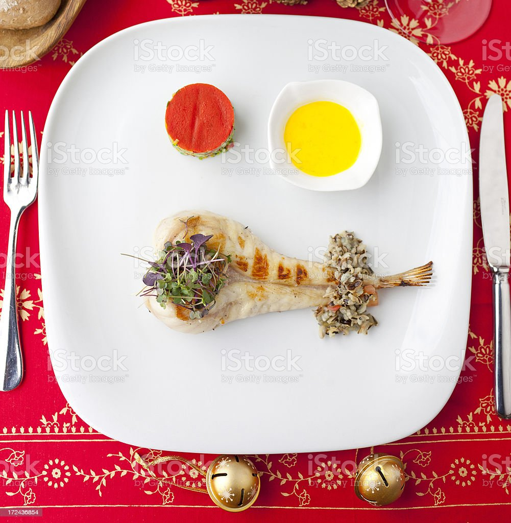 Holiday Healthy Dinner royalty-free stock photo