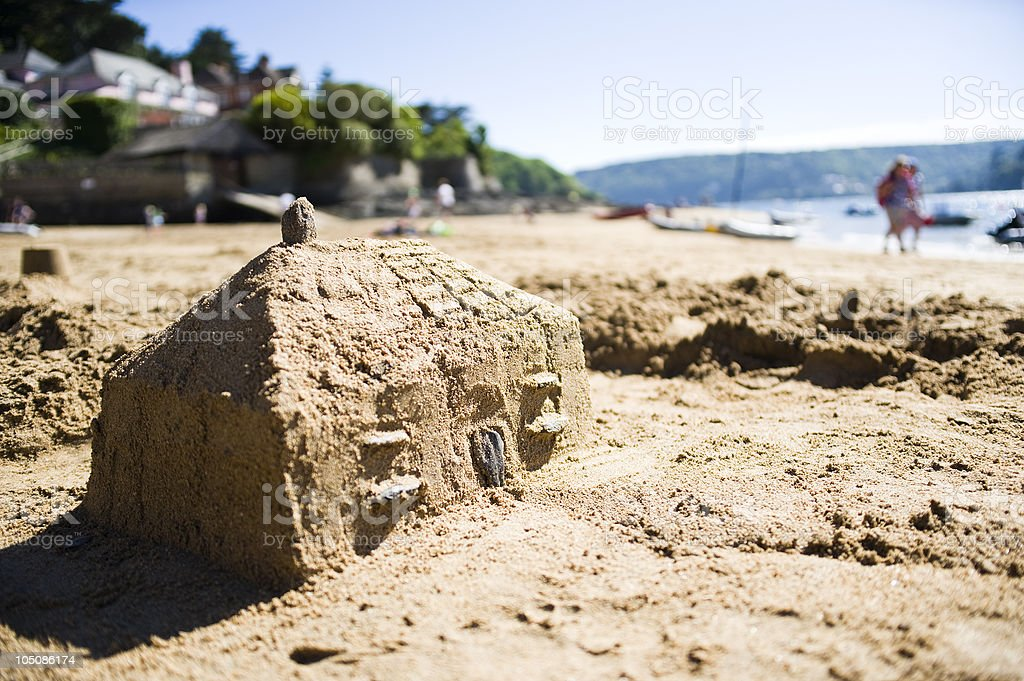 Holiday Home By The Sea royalty-free stock photo
