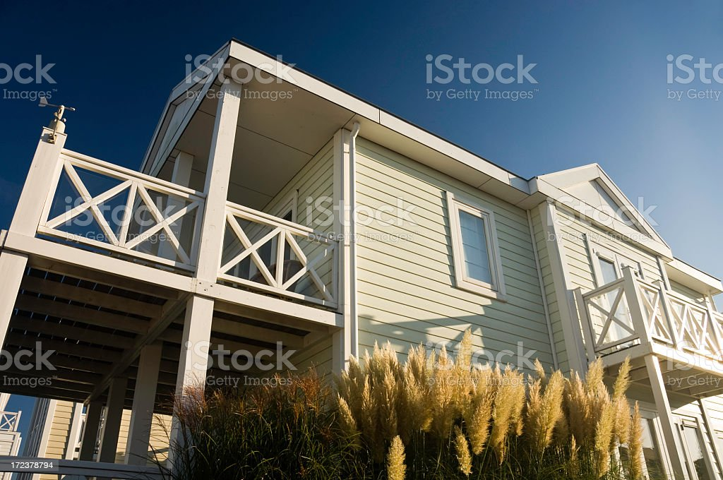 Holiday home for summer vacation stock photo