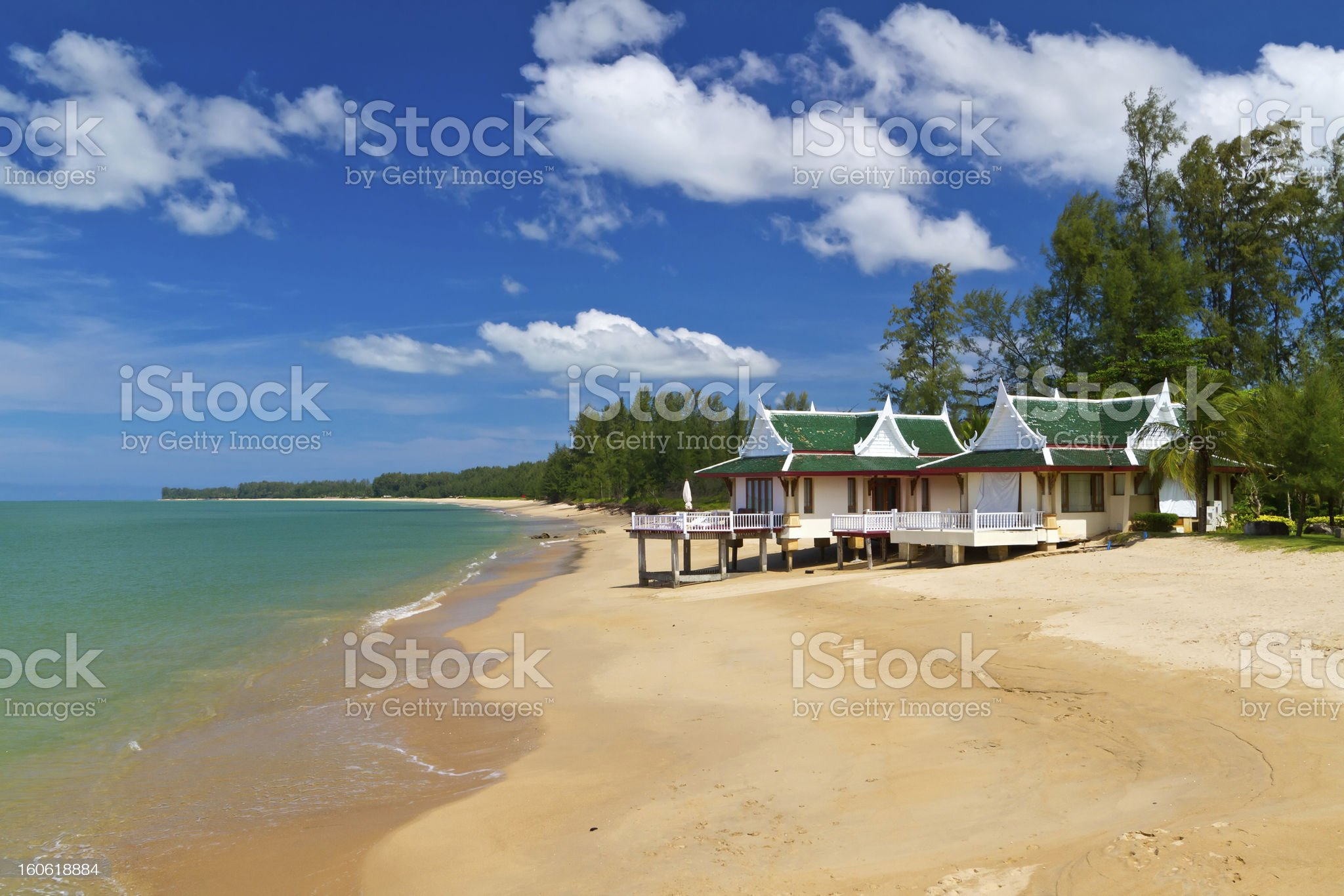 Holiday house on the beach in Thailand royalty-free stock photo