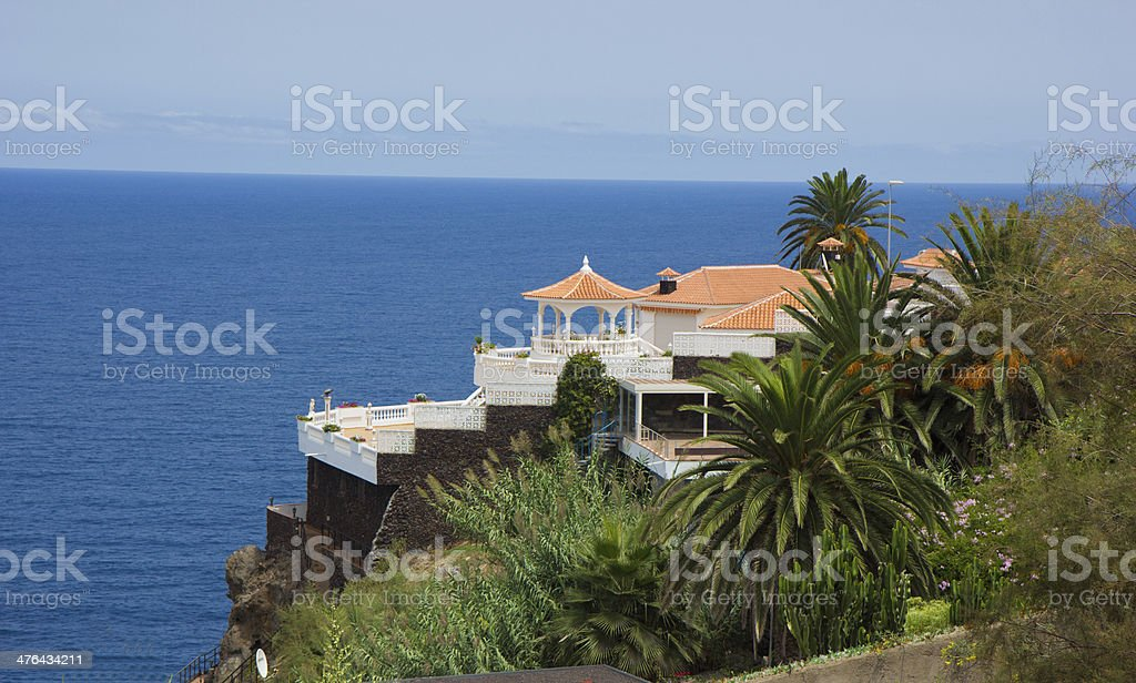 holiday house over ocean royalty-free stock photo