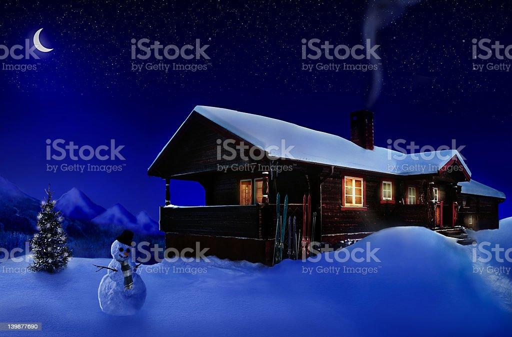 Holiday house royalty-free stock photo