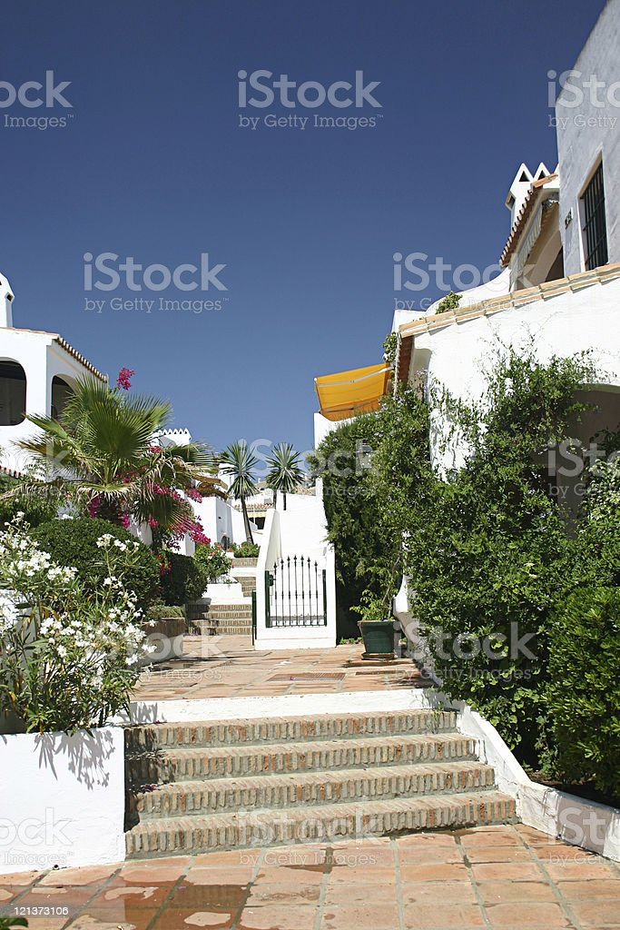 Holiday house southern spain royalty-free stock photo